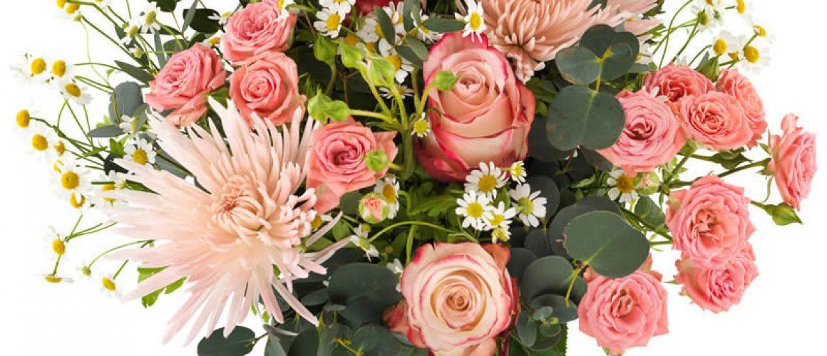 Boeket roze tinten