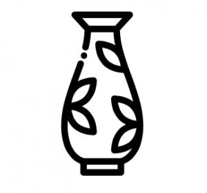 vaas voor bloemen