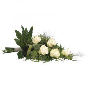 Sierlijk rouwboeket wit