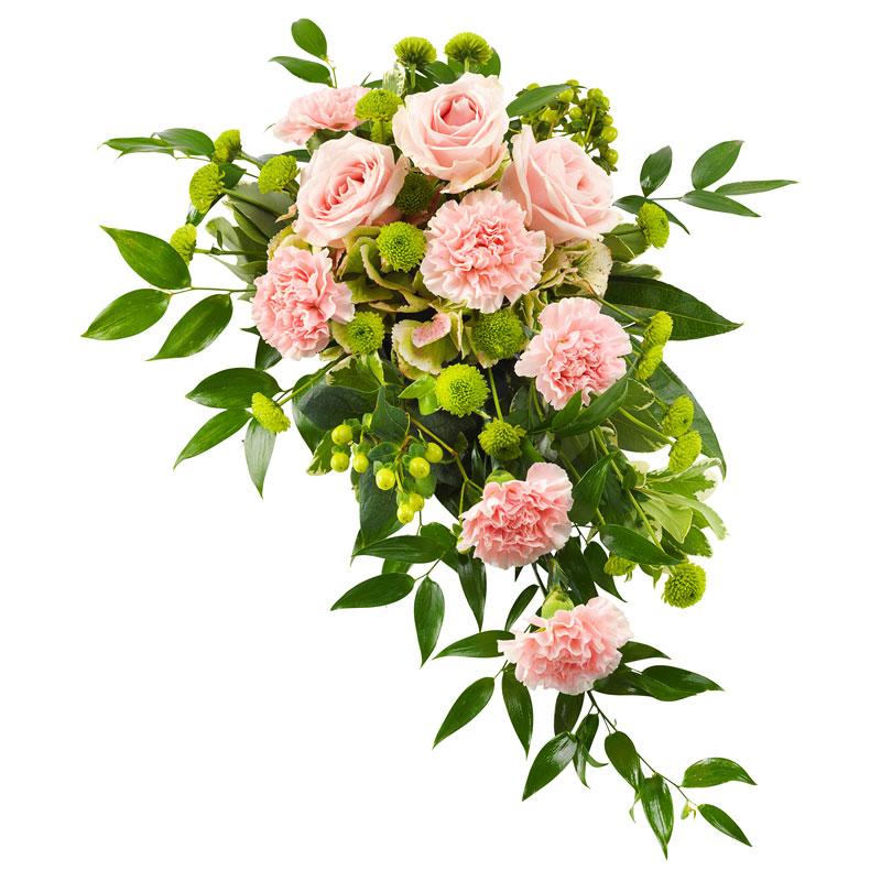 Luxe roze rouwboeket