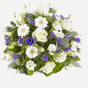 natuurlijk bloemen afscheid rouwboeket