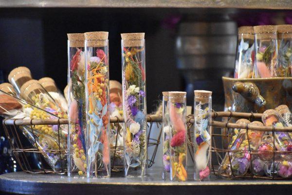 Moederdag cadeautje cilinder set droogbloemen