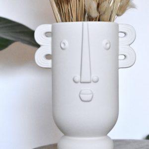 vaas met gezicht