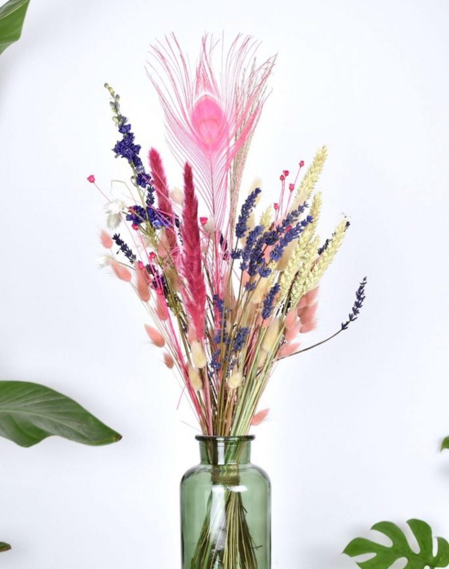 lavendel droogbloemen boeket