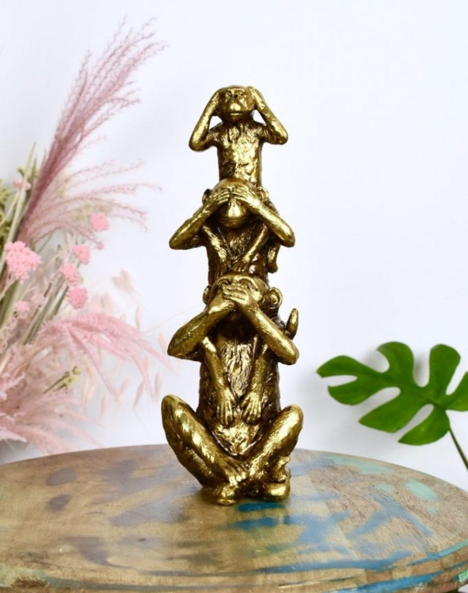 gouden figuren voor tafel