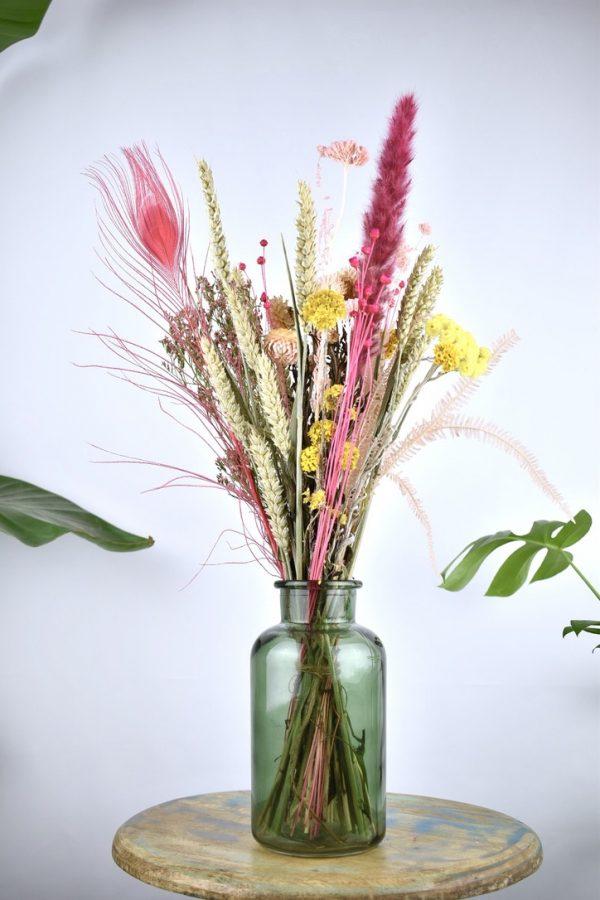 klein droogbloemen boeket cadeau