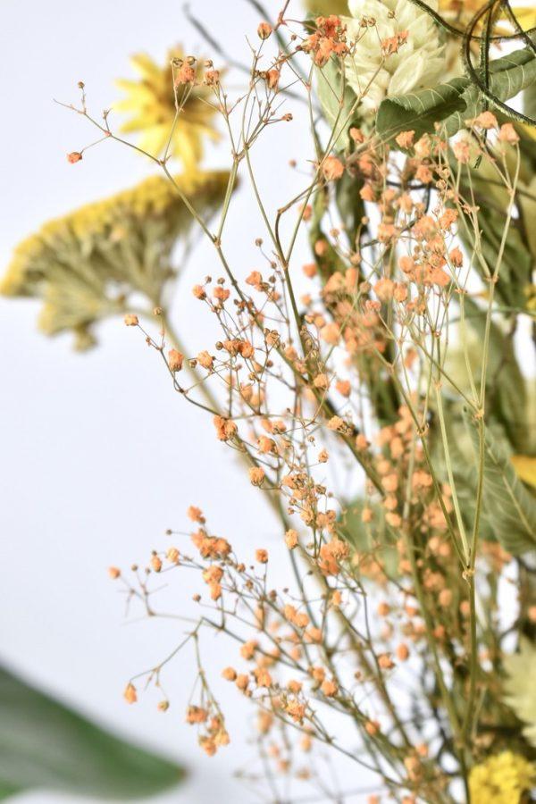 detail foto droogbloemen boeket