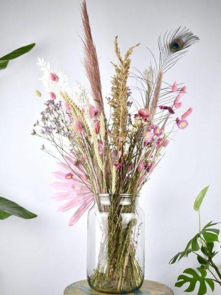 droogbloemen boeket pastel kleur