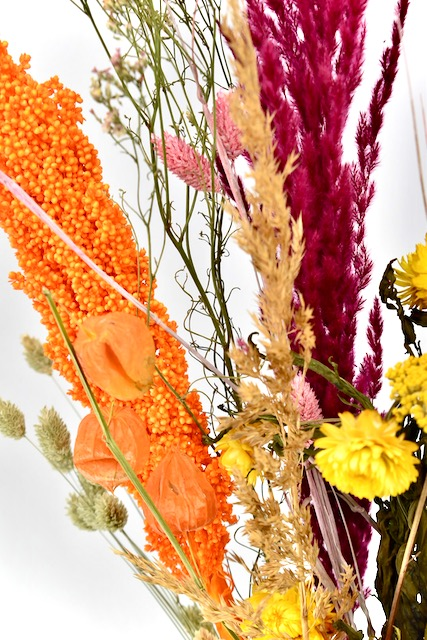 droogbloemen boeket herfstkleuren