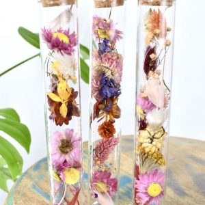 Cilinder set met droogbloemen