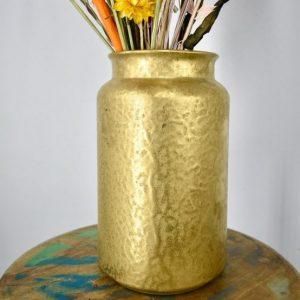 droogbloemen vaas goud