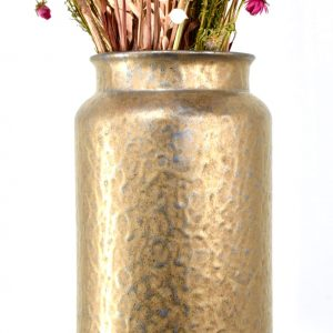 droogbloemen vaas goud panterprint
