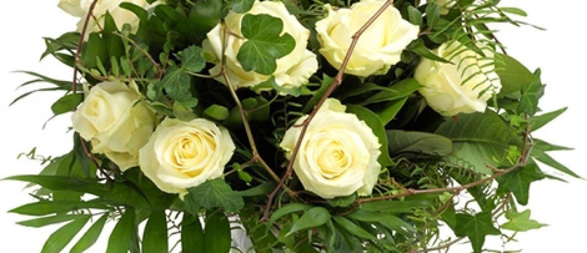 Boeket witte roos