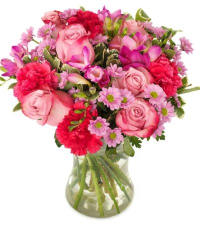 roze boeket bestellen