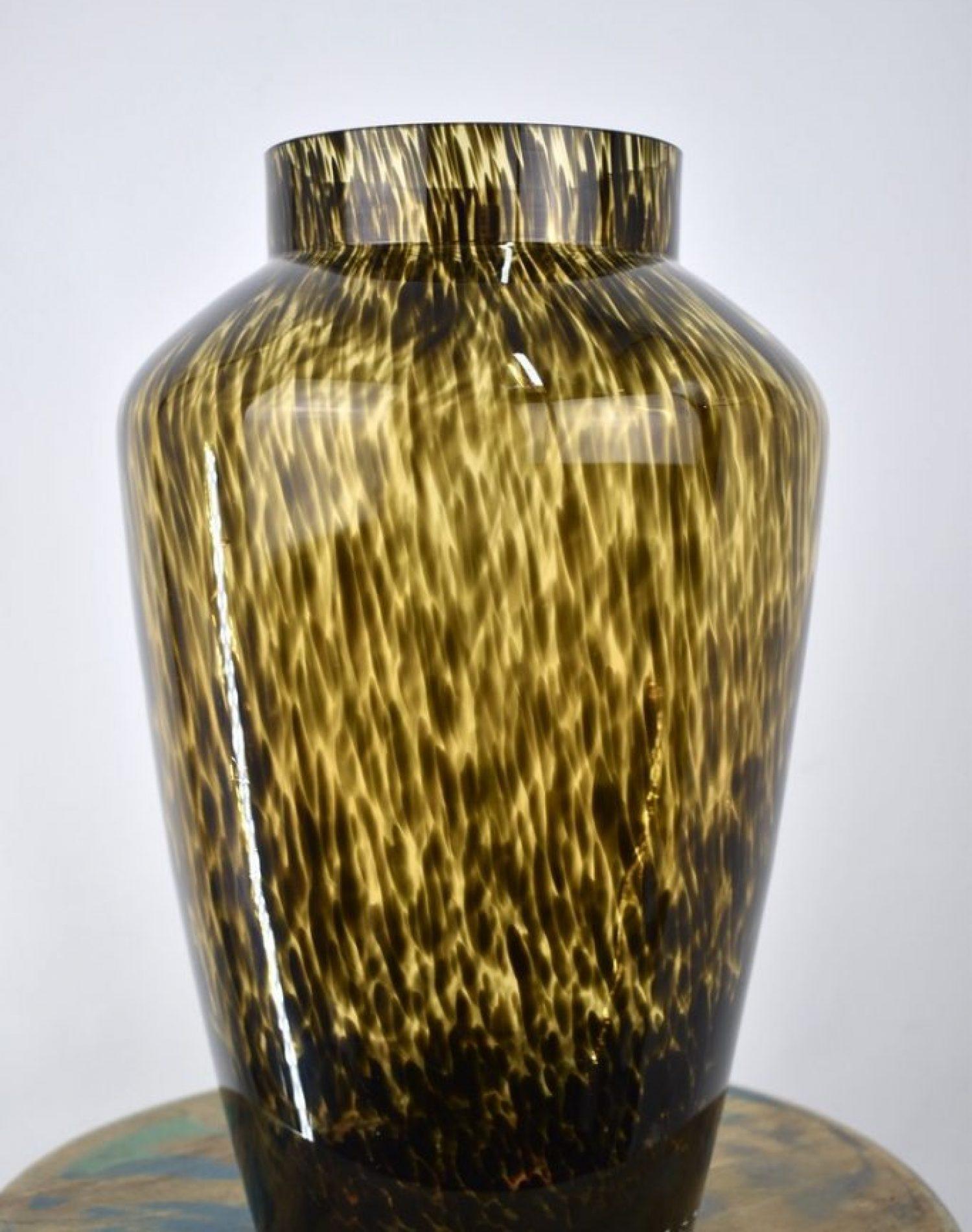 cheetah vaas voor droogbloemen