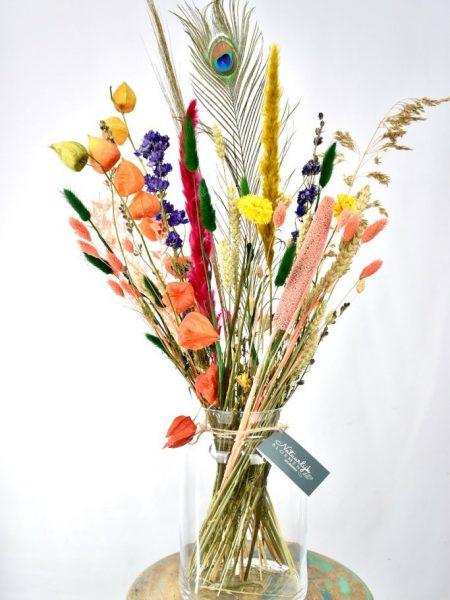 droogbloemen boeket met kleur