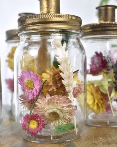droogbloemen fles cadeautje