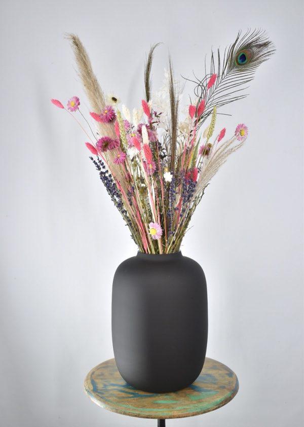 droogbloemen boeket met vaas cadeau