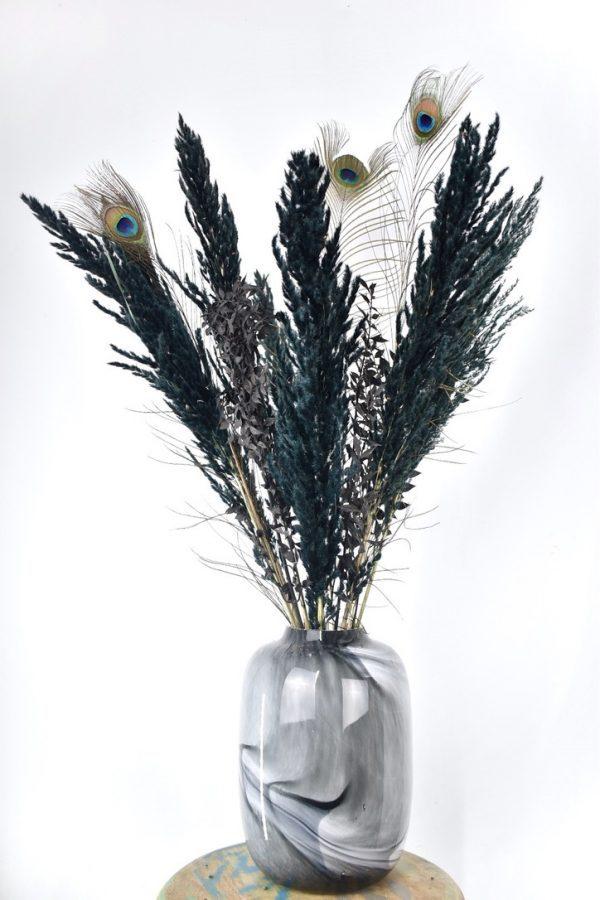 zwart boeket droogbloemen kopen