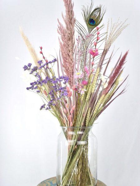 droogbloemen boeket kopen in pastel tinten
