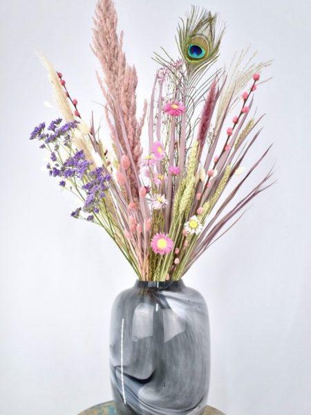 droogbloemen vaas met boeket kopen