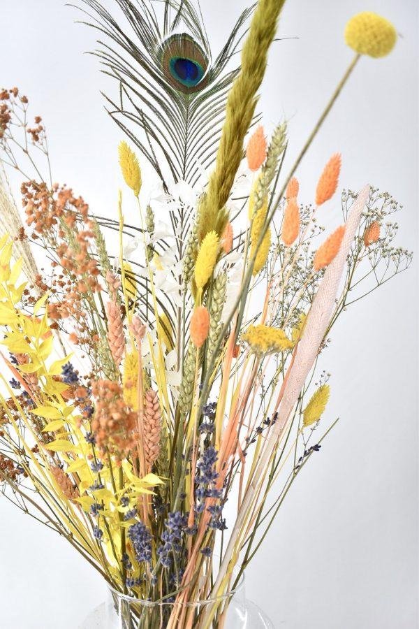 droogbloemen boeket bestellen in zomerse kleuren