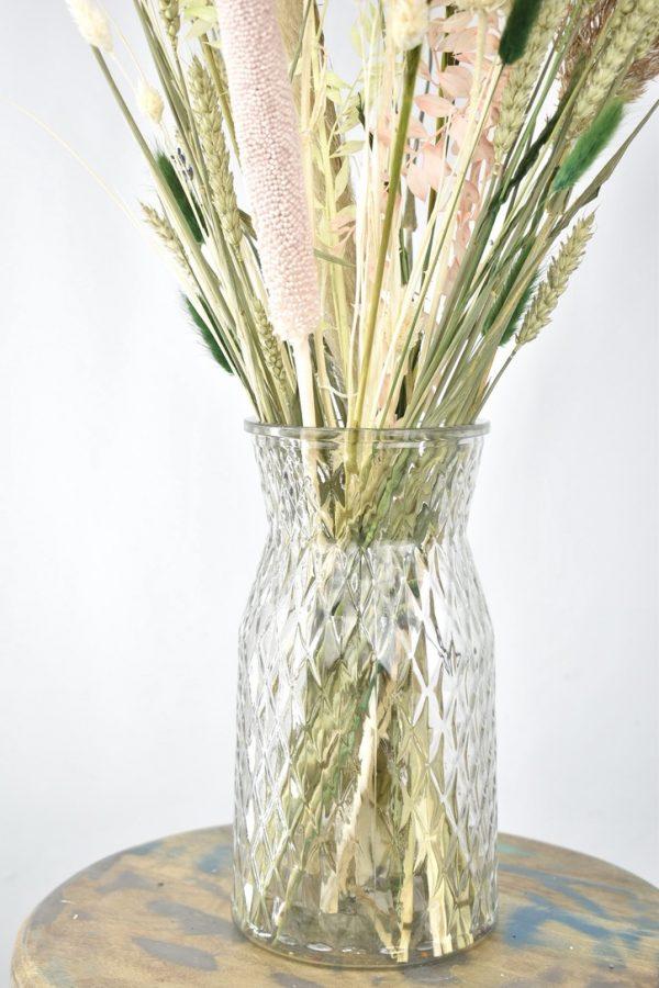 droogbloemen boeket met vaas bestellen