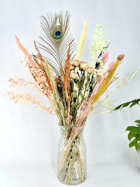 droogbloemen mat natuurlijke tinten