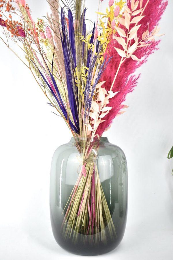 vaas droogbloemen boeket