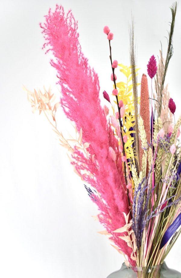 droogbloemen foto met roze pampas