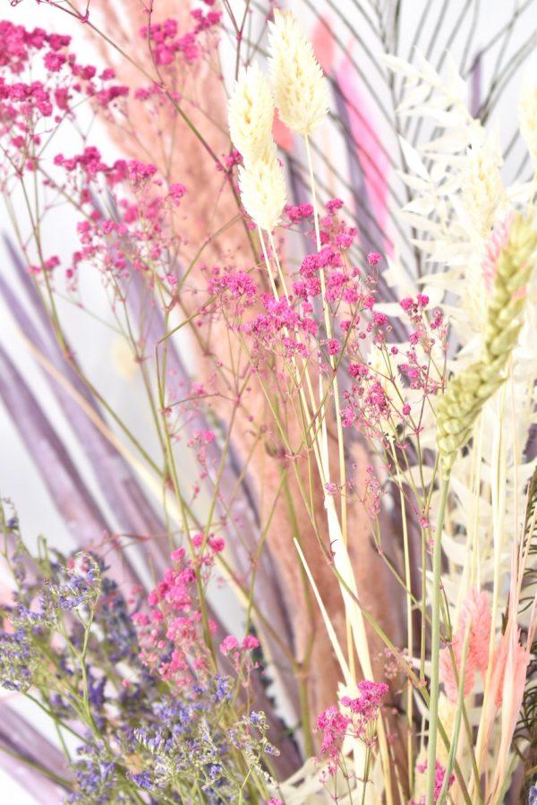 roze droogbloemen boeket cadeau