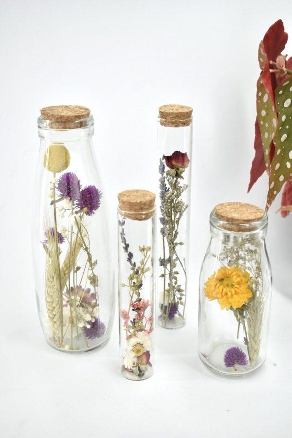 droogbloemen fles mix cadeautje