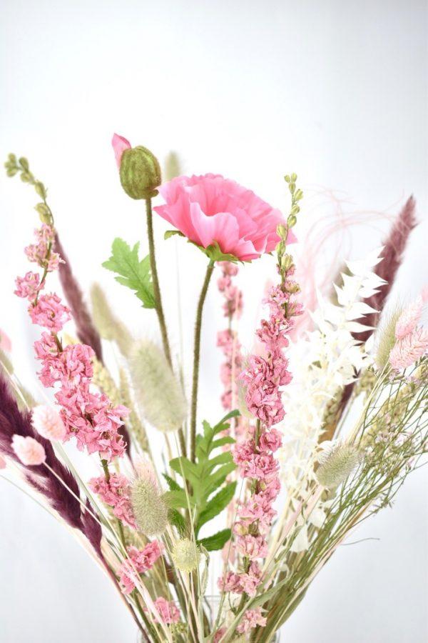 droogbloemen boeket bestellen roze