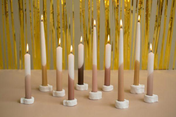 kaarsen met droogbloemen cadeau