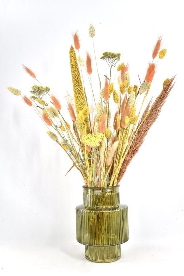 droogbloemen boeket met trendy vaas bestellen