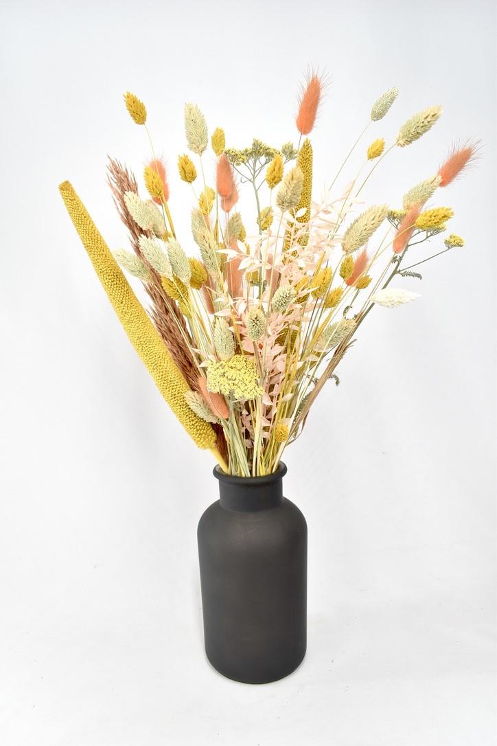 droogbloemen boeket met vaas bestellen voor een cadeau