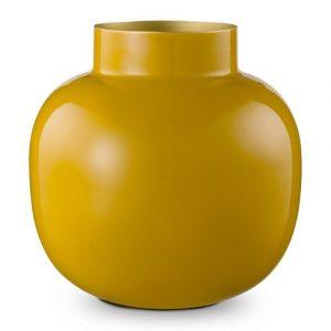 Ronde vaas geel