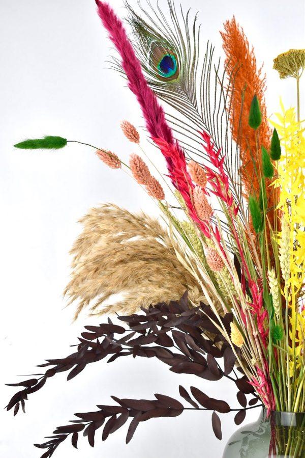 droogbloemen boeket met pampas pluimen