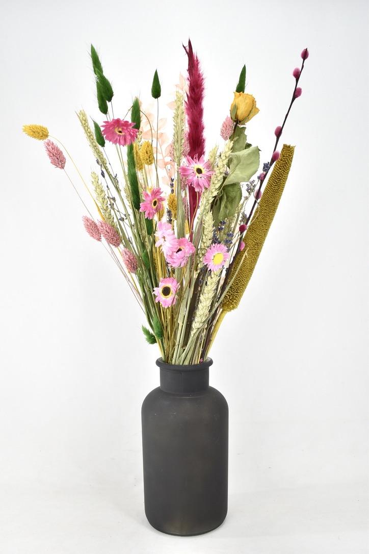 droogbloemen boeket met verschillende kleuren