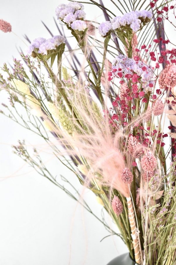 droogbloemen boeket met pastel