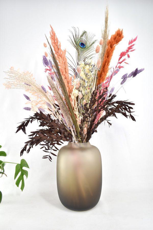 groot en luxe droogbloemen boeket als cadeau
