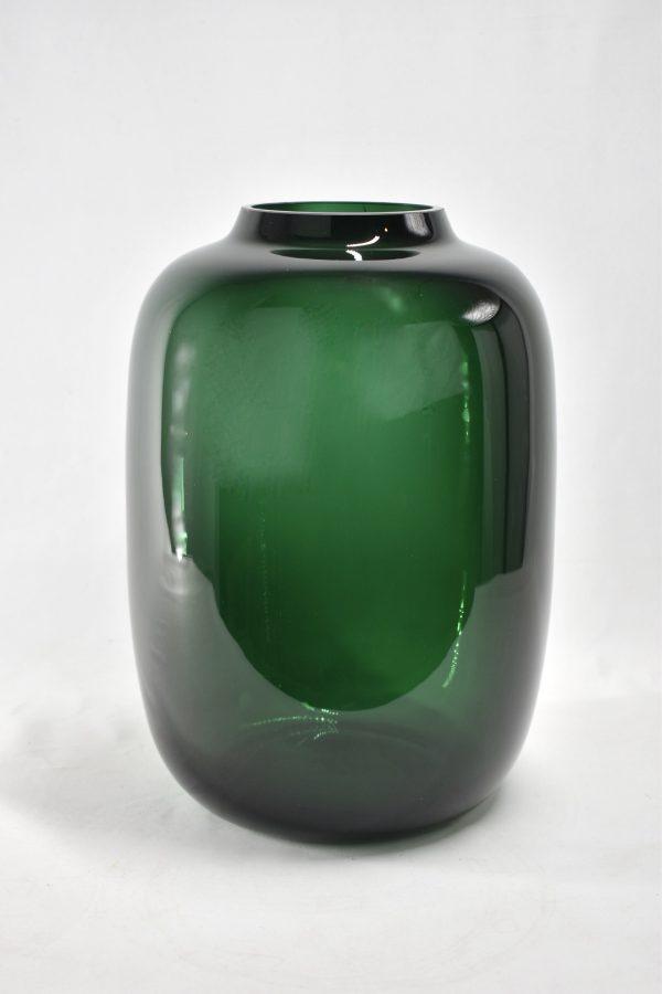 dark green vaas voor droogbloemen