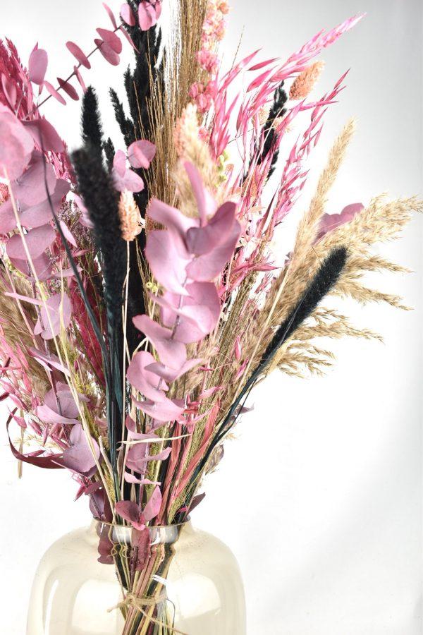 roze gedroogde bloemen
