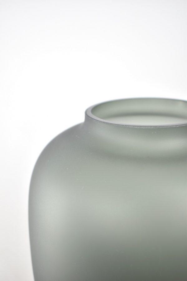 satin grey vaas voor droogbloemen
